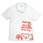 猫好きのねこ好きによるネコ好きのためのポロシャツ!可愛すぎて鼻血モノ!