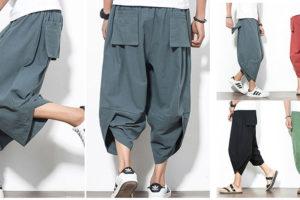 【サルエルパンツ】ポケットやてきスタイルは今までになかったスタイル!履きやすくて楽チンなオシャレ綿麻サルエルパンツ!
