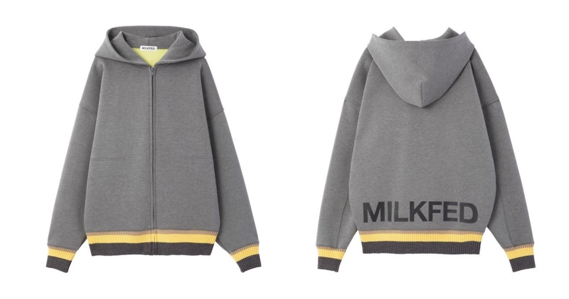 【MILKFED. (ミルクフェド)】バックスタイルの裾ロゴが可愛い!ユニセックスだから幅広い使い方ができるパーカー!